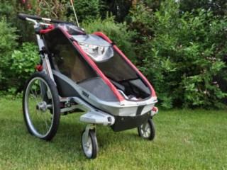 Test/opinia o przyczepce rowerowej dla dzieci Thule Chariot Cougar 1