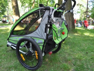 Test przyczepki rowerowej dla dzieci Qeridoo Sportrex 1