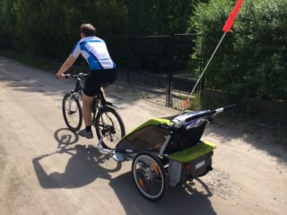Test/opinia o przyczepce rowerowej Thule Chariot Cougar 2