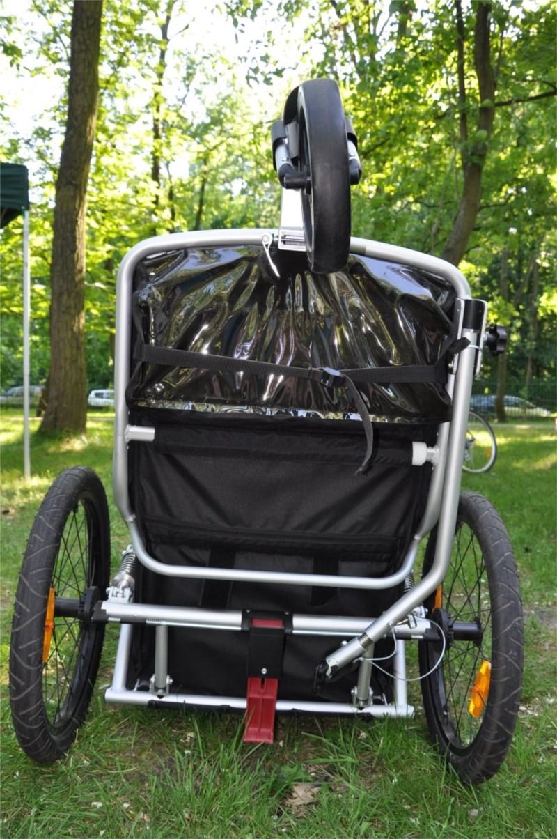amortyzowana przyczepka rowerowa dla dzieci qeridoo sportrex 1 test opinie wra enia z. Black Bedroom Furniture Sets. Home Design Ideas
