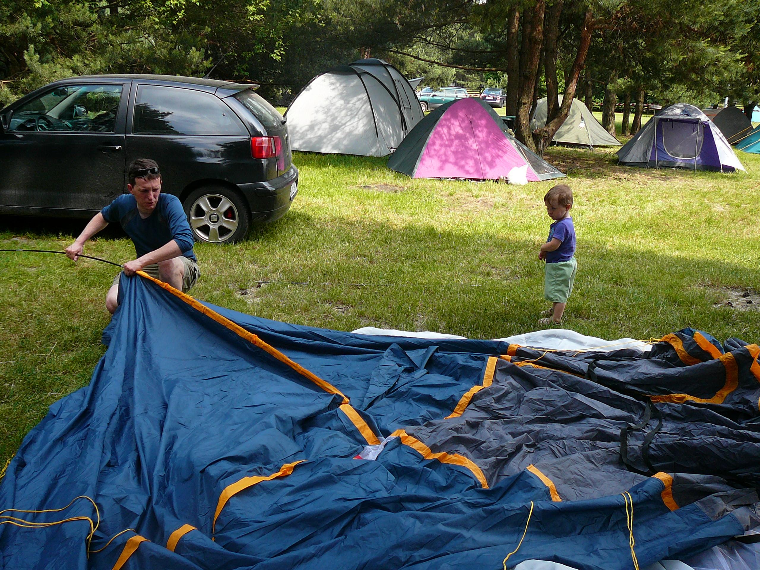 Pole namiotowe w Podlesicach