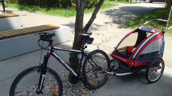 Przyczepka rowerowa dla dzieci Nordic Cab - cena, sklep, wypożyczalnia