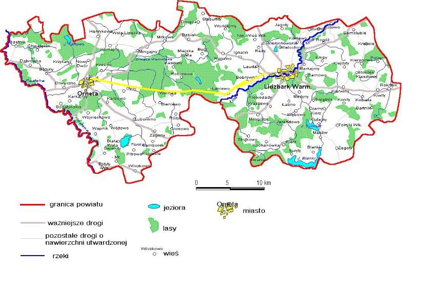 Mapa poglądowa trasy